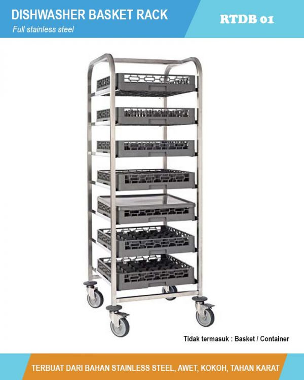 Dishwasher Basket Rack - RTDWB01 (Rak keranjang container)