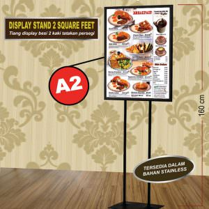 Display stand 2 feet besi