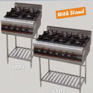 Gas oven burner with stand