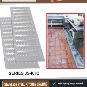 Stainless steel grating (penutup parit dapur)