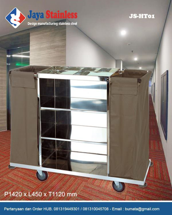 Hotel service cart - Housekeeping trolley - Housekeeping Carts JS-HT01
