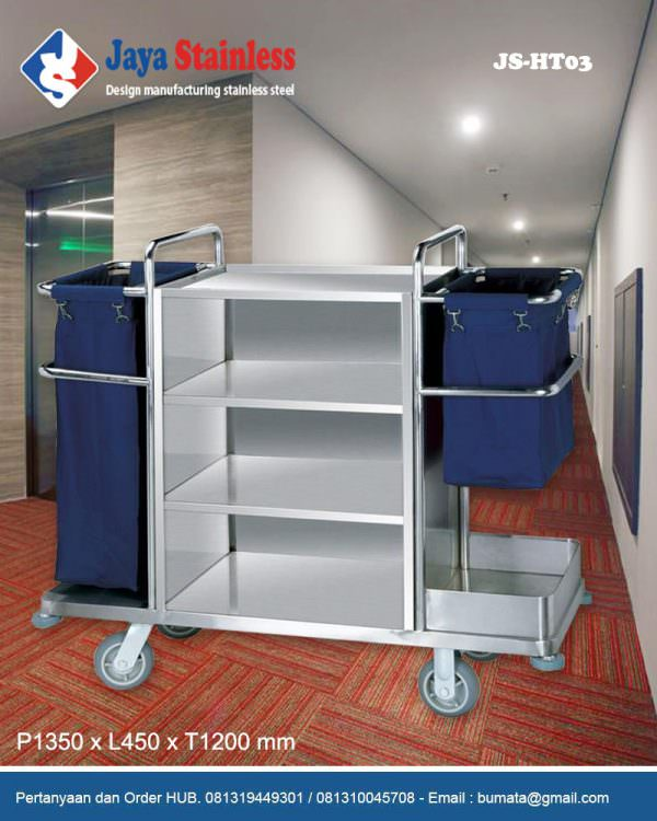 Hotel service cart - Housekeeping trolley - Housekeeping Carts JS-HT03