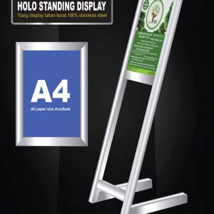 Floor stand (tiang display stainless holo segi empat)