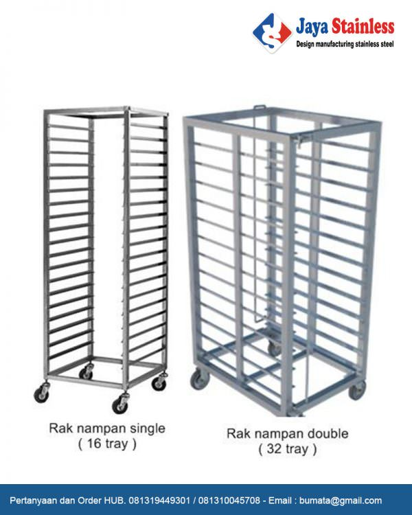 Rak Nampan Single 16 & 32 Tray
