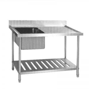S/S SINK TABLE SST-1255 (Meja cuci piring dan tangan)