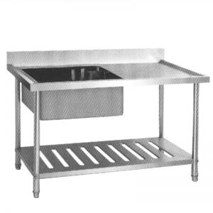 S/S SINK TABLE SST-1585 (Meja cuci piring dan tangan)