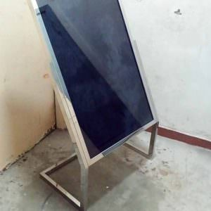 Tiang display stainless kaki L - Standing poster stainless