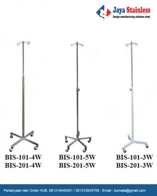 Tiang infus stainless (Infusion stand stainless)