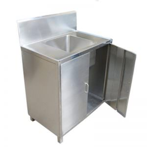 Wastafel stainless model cabinet pintu swing   backsplash