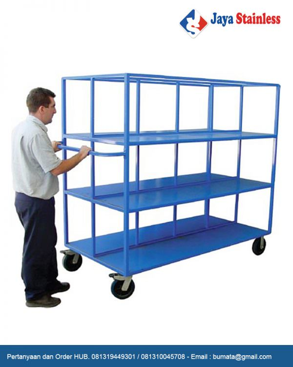 Warehouse Trolley Large ( Trolley gudang )