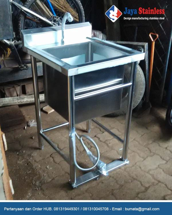 Pot sink stainless keran pedal -Stainless Foot Pedestal Hand Sink