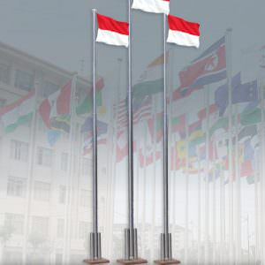 Tiang Bendera Stainless (Outdoor)