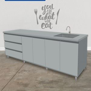 Cabinet with swing door   Sink   Drawer (kitchen sink cabinet)