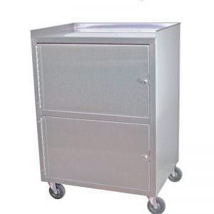 Dual cabinet cart stainless