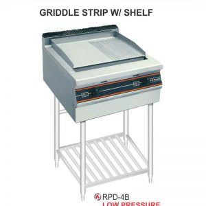 Gas open Griddle & Boiler With Stand RPD-4B