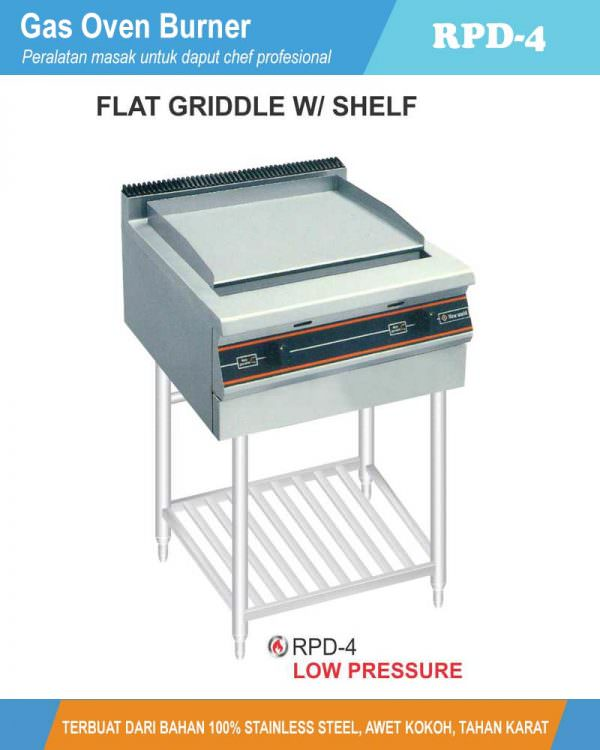 Gas open Griddle & Boiler With Stand RPD-4