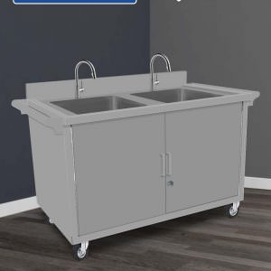 Kitchen Sink Cabinet 2 Bowl   Grease Trap
