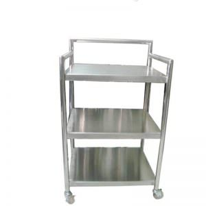Service Trolley D (trolley makanan 3 Level 1 handle)