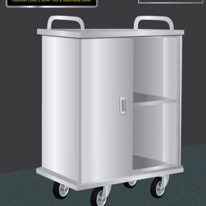 Stainlees steel cabinet trolley with swing door