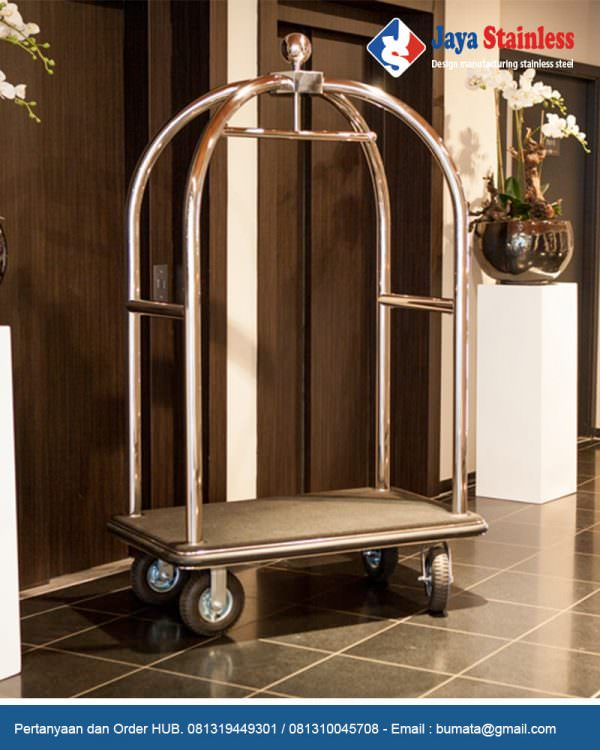 Luggage cart trolley (trolley sangkar burung)